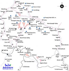 Map - Annapurna Circuit Trekking