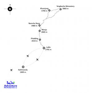 Everest Panorama Trekking Mape