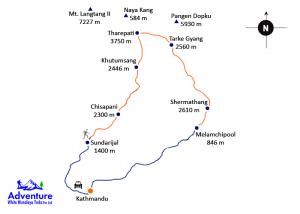 Map - Helambu Trekking