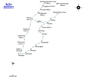 Map - Kanchenjunga Base Camp Trekking