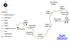 Map - Mera Peak Climbing
