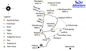Map - Poonhill Short Trekking