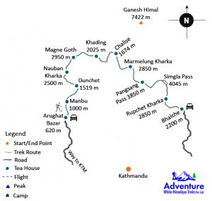 Map - Ruby Valley Trekking