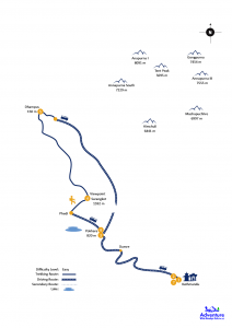 Map - Sarangkot Dhampus Trekking