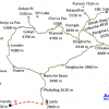 Map – Three High Passes Trekking