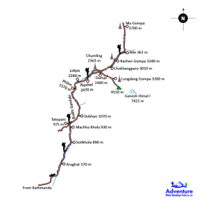 Map - Tsum Valley Trekking