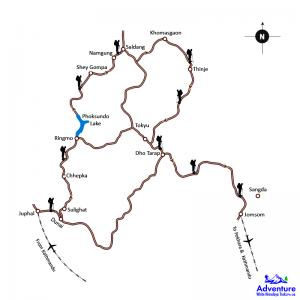 Map - Upper Dolpo Trekking
