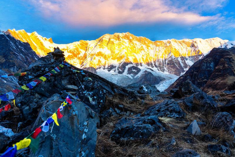 Sun rays of Annapurna I | 14 days Annapurna Base Camp Trek
